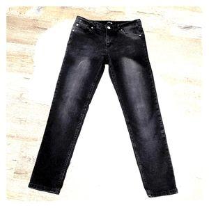 JOE'S Black Faded Skinny Jeans